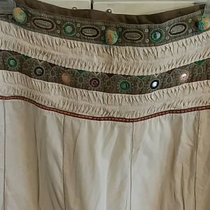 BCBGMAXAZRIA boho beaded skirt size 8